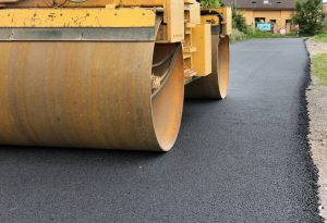 Asphalt paving on the streets of Brampton