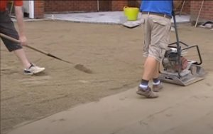 brampton-paving-vibrating-roller-and-rake